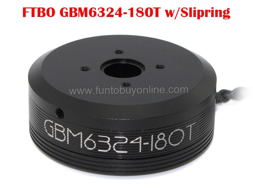 DYS Brushless Gimbal Motor GBM6324-180T w/Slipring Sealed Case for DSLR FPV Aerial Photography