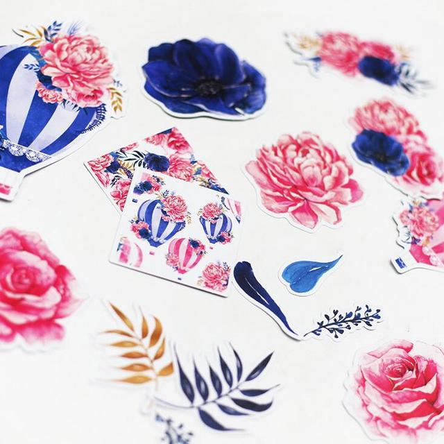 S1 Forest Watercolor Flower Hydrogen Balloon Stickers Adhesive Stickers DIY Decoration Stickers