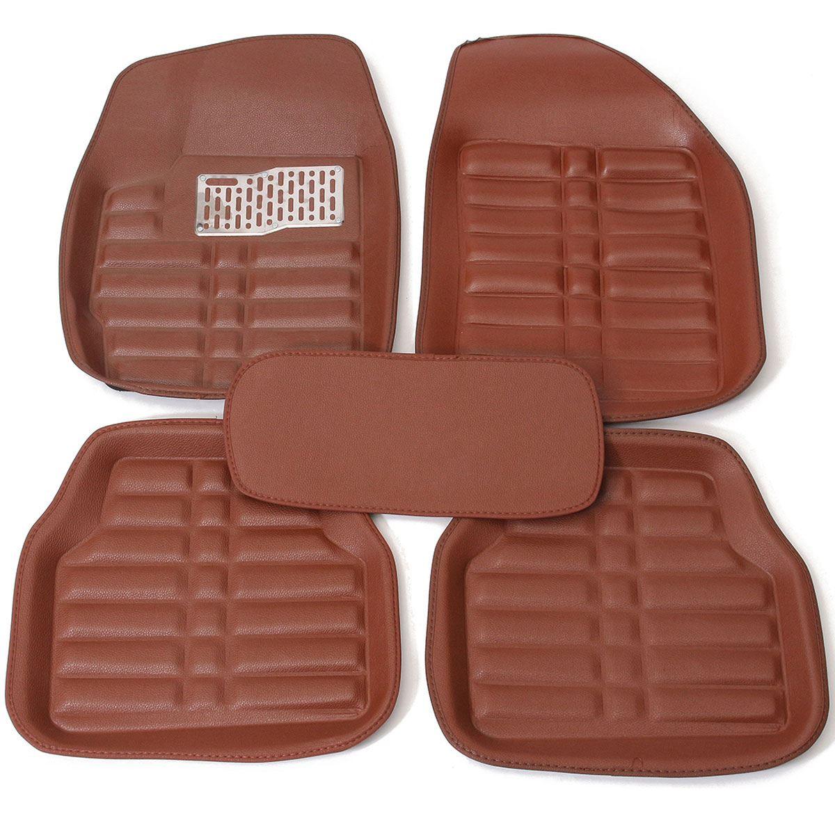 5pc universal car floor mats front rear liner waterproof for Auto flooring