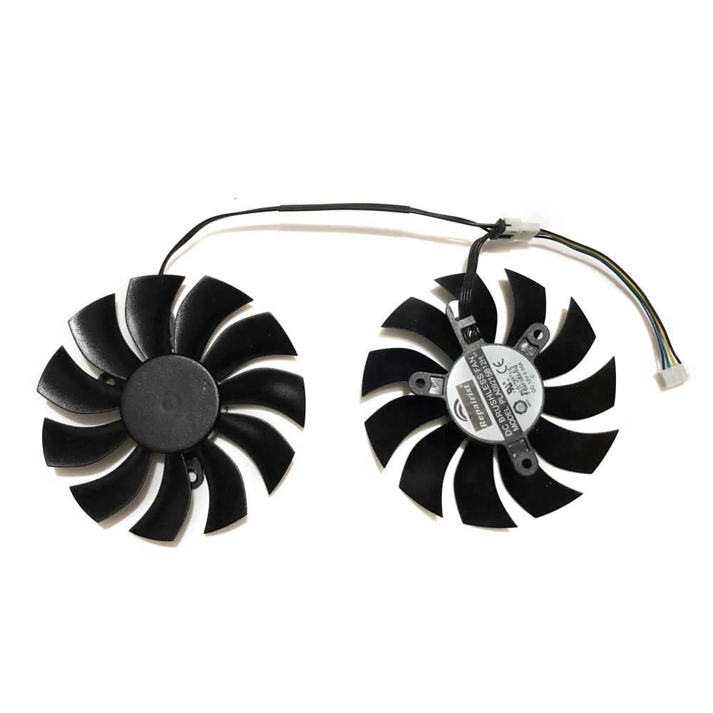 2 Pcs/Lot DATALAND RX580 GPU Graphics Card Fan For Radeon PowerColor Red Devil Golden Sample <font><b>RX</b></font> <font><b>580</b></font> 8GB <font><b>GDDR5</b></font> Video Card Cooling image