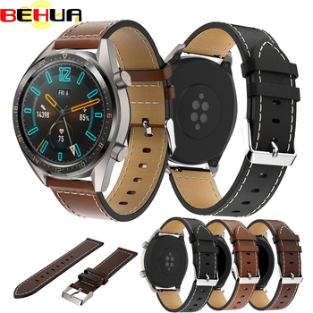 22mm watch Strap For Huami Stratos 2S 2 Genuine Leather band for Huawei Watch GT Watchband For Samsung Galaxy Watch 46mm Strap isunzun watch band for cartier w7100037 w7100041 genuine leather watch strap for men and women leather watchband free shipping