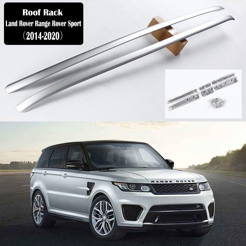 แร็คหลังคาสำหรับ Land Rover Range Rover Sport 2014-2020 ชั้นวางรางบาร์กระเป๋าเดินทาง Carrier บาร์ top Racks Rail กล่องอลูมิเนียม