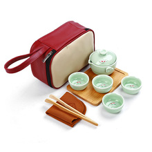 Chinese Tea Cup Ceramic Celadon Fish Teacup Set Teapot Drinkware Kung Fu Tea Set Porcelain Cup Chinese Tea Ceremony Mug Gift jia gui luo 6pcs china tea cup porcelain celadon fish tea cup set teapot drinking pottery chinese kung fu tea set ceramic cup ch