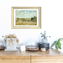 Vintage Alfred Landscape Framed Oil Canvas Painting Abstract Wall Pictures for Living Room Bedroom Art Craft Home Decor