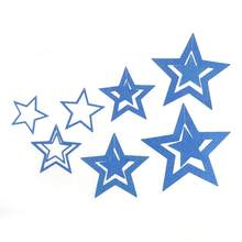 7pcs Star Style Hanging Hollow Paper Star Garlands Chain For Holiday Home Living Room Wedding Birthday Party Decoration(China)