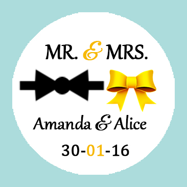 Custom Wedding Sticker Golden Favors Personalized Mr Mrs Labels Tuxedo Bow And Gold Ribbon In Gift Bags Wring Supplies From