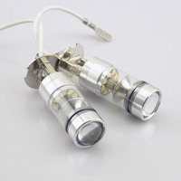 2pcs 100W H3 1000LM White LED Car Auto Fog Lamps Car Styling 20smd LED DRL Parking