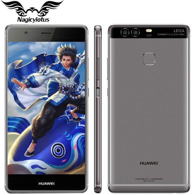 Оригинал Huawei P9 Plus VIE-AL10 4G LTE 5.5 дюймов Мобильного Телефона Кирин 955 Окта основные 4 ГБ RAM 64 ГБ ROM Android 6.0 Dual SIM 12.0MP