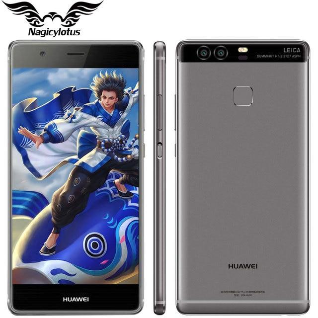 Оригинал Huawei P9 Плюс VIE-AL10 4 Г LTE 5.5 дюймов Мобильного Телефона Кирин 955 Окта основные 4 ГБ RAM 64 ГБ ROM Android 6.0 Dual SIM 12.0MP