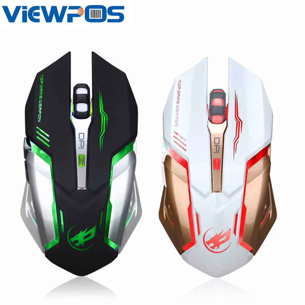T1 Wireless Gaming Mouse Mute Button Silent Click Rechargeable 2400DPI Optical Mice White Black For Tablet Laptop PC Computer