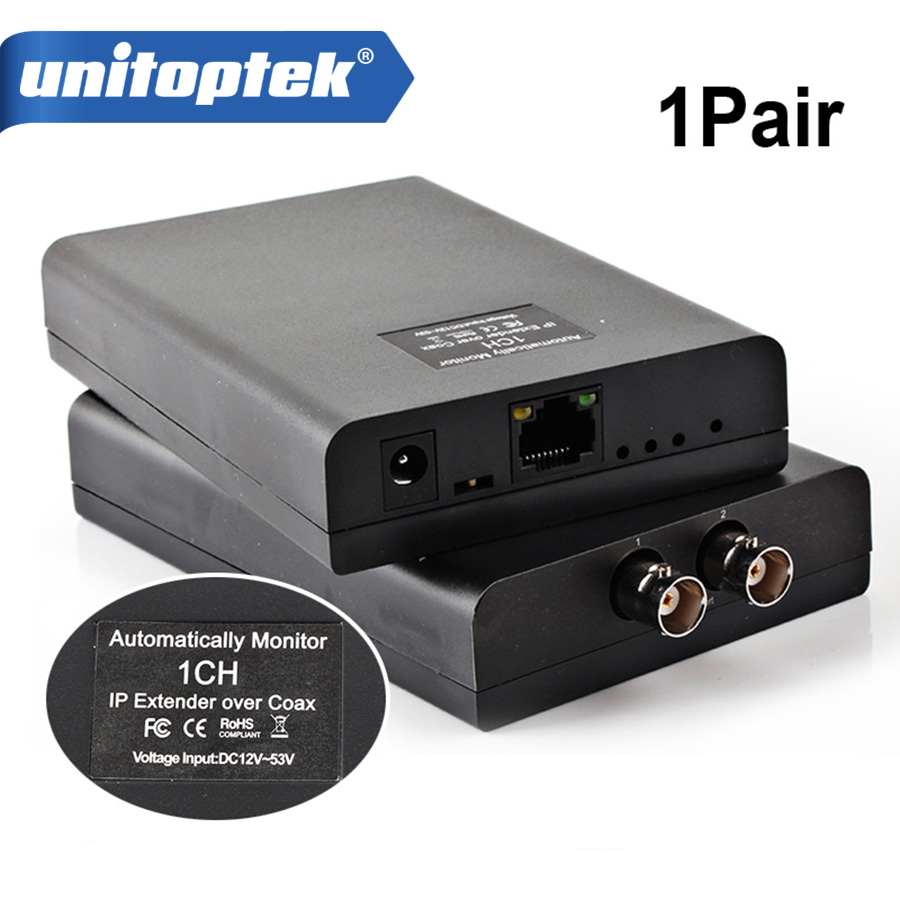 1CH IP POE Extender Coaxial Converter Extender Power Support Long Transmission Distance,Range Up to 2500M,automatically monitor 80 channels hdmi to dvb t modulator hdmi extender over coaxial