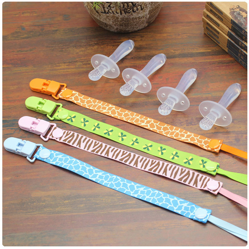1PC Silicone Kids Teether Training Toothbrushes Children Newborn Baby Infants Dental Oral Care Brush Tool Toothbrush+nipple clip