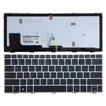 """מקלדת מחשב נייד חדשה בארה""""ב עבור HP Elitebook חג 810 G1 G2 G3 כסף מסגרת עם תאורה אחורית"""