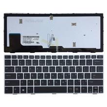 New US laptop Keyboard For HP Elitebook Revolve 810 G1 G2 G3 silver frame with backlit