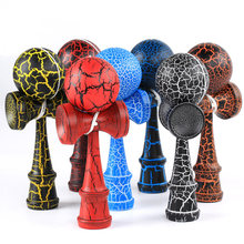 Wooden 18cm Kendama Ball Crack Paint Skillful Juggling Ball Toys Japanese Traditional Fidget Ball Kids Leisure Sports Adult Gift(China)