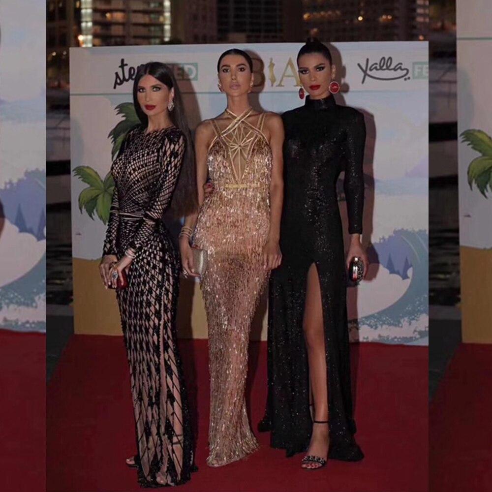 Soirée Sexy D'été Sans Maxi Manches Élégantes De Femmes Multicolore Robes Célébrité Long 2018 Robe Club Sequin Mode pqxzwxO