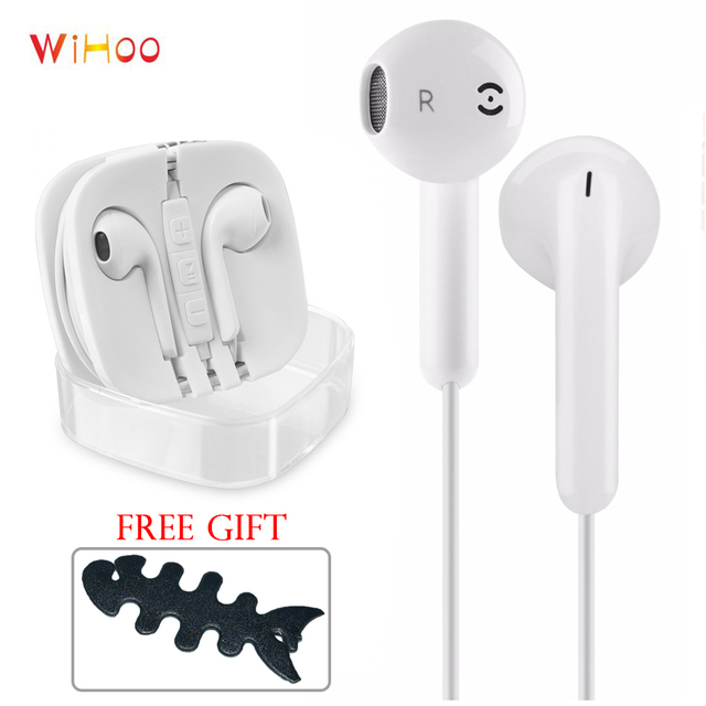 WiHoo Wired In-Ear Earphones Earbuds For Huawei Xiaomi iPhone Samsung S4 S5 S6 S7 S8