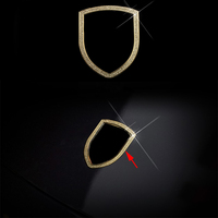 FIT For Porsche macan panamera 911 Diamond Car Front Logo Dec Cover Trim