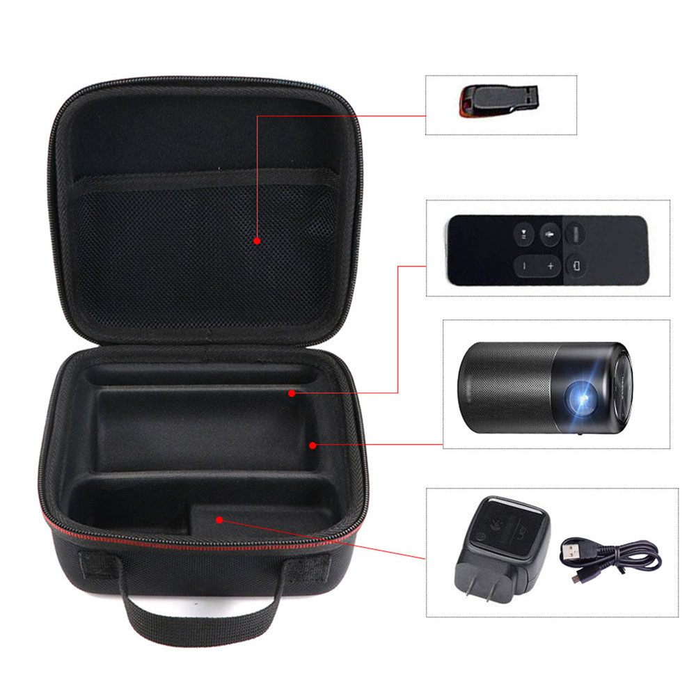 EVA Hard Carry Bag Storage Case For Anker Nebula Capsule Smart Mini Projector And Drive Accessories Pocket Cinema Accessories image