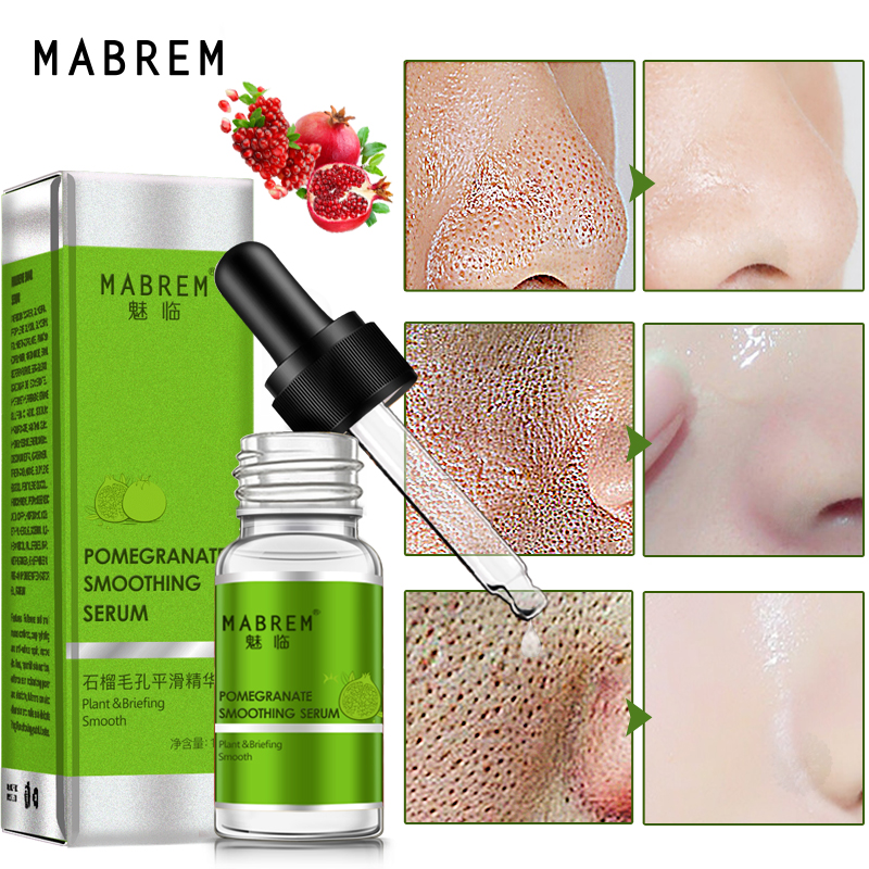 MABREM Pomegranate Fine Pores Face Serum Whitening Plant Skin Care Anti Aging Anti Wrinkle Cream Reduce Acne Marks Care 10ml