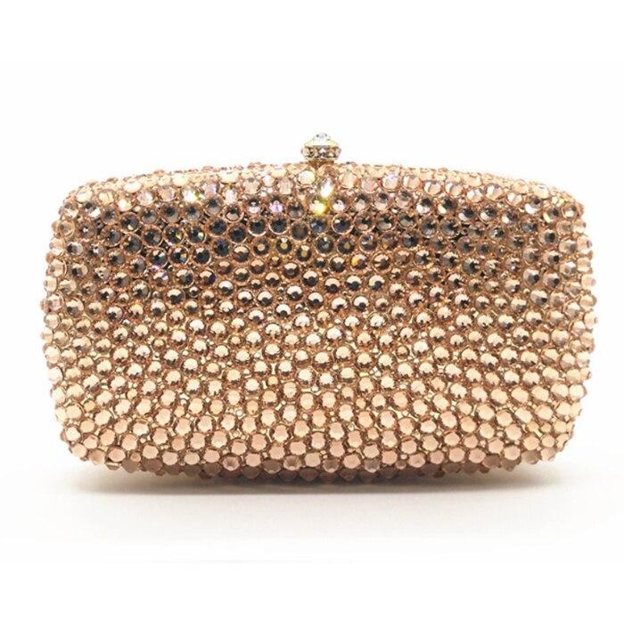 Women Silver/gold/black/red Crystal day Clutches Bag Evening Party Minaudiere Box Clutch Purse Bridal plaid Rhinestones Handbag box clutch purse