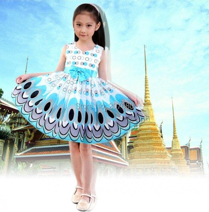 Halloween Girls Princess Fancy Dress Up Costume Outfits: Cute Little Girl Christmas Peacock Princess Skirt