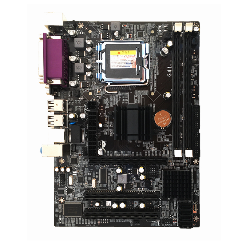 цена New Desktop Motherboard LGA 771 Socket G41 Computer Motherboard 8GB 2*DDR3 RTL8105E Mainboard 245*170mm For Xeon 771