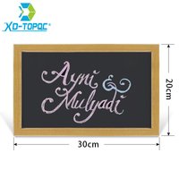 Free Shipping New MDF 5 Colors Frame Small Magnetic Wooden Blackboard For Nots A4 Size 20