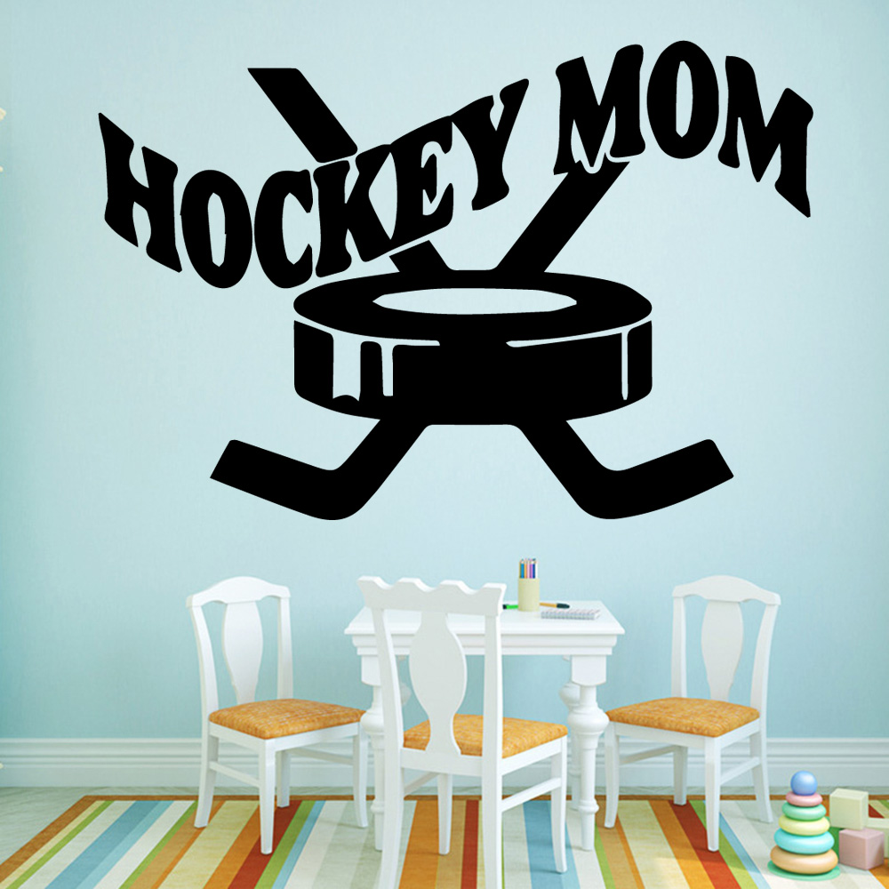 Hot Hockey Mom Vinyl Self Adhesive Wallpaper For Baby Kids Rooms Decor Room Decoration Wallstickers