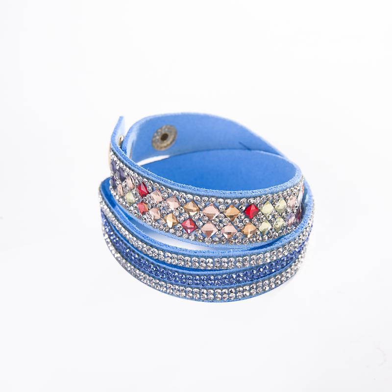 Meajoe Trendy Women Men Multilayer Rhinestone Slake Leather Bracelet Vintage Charm Crystal Long Bracelets Jewelry For Women Gift 7
