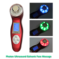 3MHz Ultrasonic Facial Massager Galvanic Ionic Face Cleaner 3 Colors LED Photon Therapy Skin Care Ultrasound Massage Beauty Tool