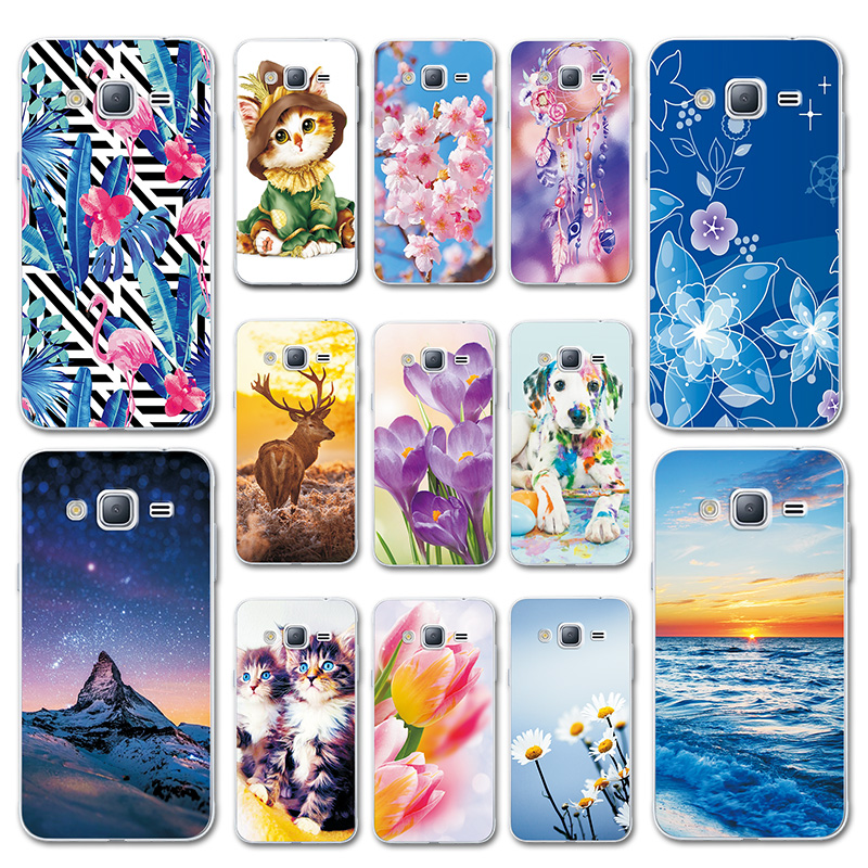 Case Cover For Samsung Galaxy J3 J5 J7 2016 Love Heart Print Soft TPU Case For Samsung J320F Phone Shell Bags J510F J710F image