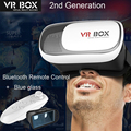 New VR BOX 2.0 Virtual Reality Glasses 3D VR Box II 2 + Bluetooth Remote Controller + Protection Film + Gift  box