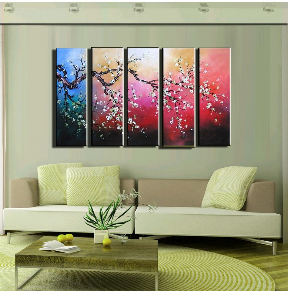 Four Panel Canvas Wall Decor