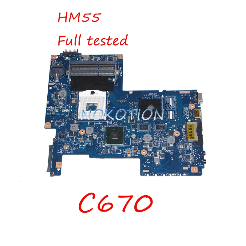 NOKOTION H000031380 Laptop Motherboard for Toshiba Satellite C670 C670 HM55 Main board works 5 chic chefs horizontal ceramic knife magenta white