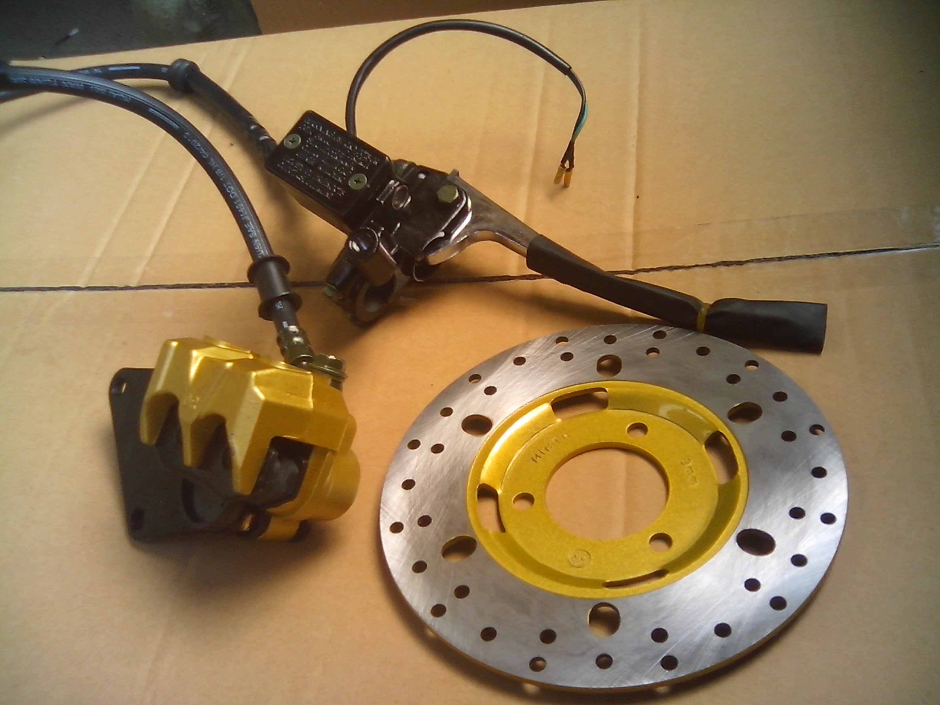 ФОТО STARPAD Motorcycle disc brake pump assembly pump disc tray scooter accessories  Wholesale versatility
