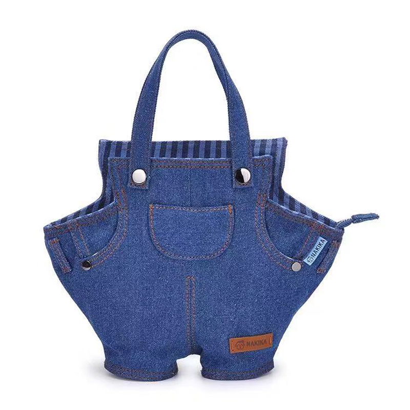 2018 Well-known Designer Brand New Denim Personality Simple Ladies Handbag Trend Art Small Fresh Shoulder Bag For Women Bolsa