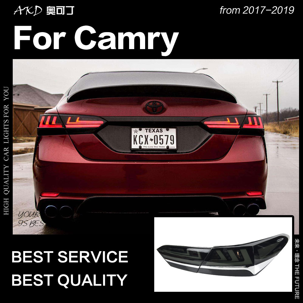 AKD tout nouveau feu arrière pour Toyota Camry feux arrière 2018 Camry XSE feu arrière LED mise à niveau vers LS400 conception LED Signal dynamique