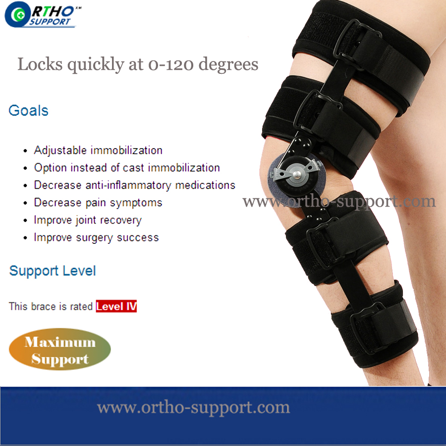 Cool Post Op Knee Brace Innovator Medtherapies Defender Sugery Knee Immobilizer adjustable knee joint support hinged splint wrap sprain orthosis post op brace sports knee pads fracture fixed rehabilitation