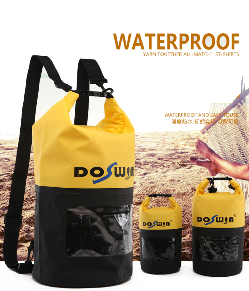b137b08426f8 10L 20L Waterproof Dry Bags 500D Mesh Swimming Bag Transparent PVC Storage  Backpack For Rivering Trekking Rafting Mountain bolsa
