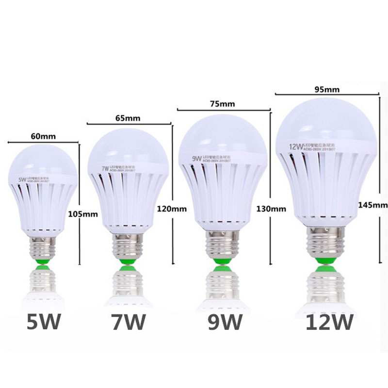 LED Emergency Light Bulb Emergency Bulb Automatic Charging 5/7/9/12W Rechargeable Battery E27 Lamp ALI88