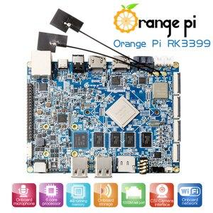 Image 1 - البرتقال بي RK3399 4 GB DDR3 16 GB EMMC ثنائي النواة Cortex A72 مجلس التنمية دعم الروبوت 6.0