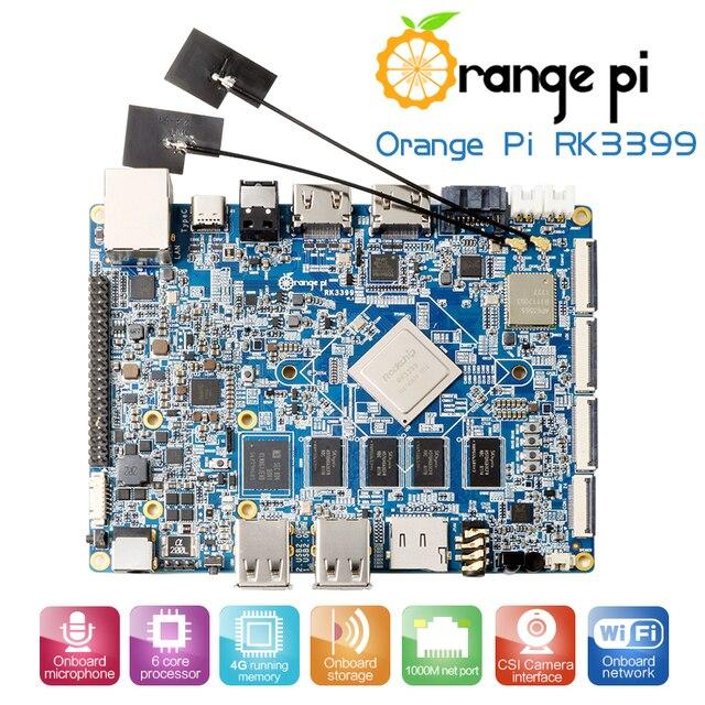 البرتقال بي RK3399 4 GB DDR3 16 GB EMMC ثنائي النواة Cortex A72 مجلس التنمية دعم الروبوت 6.0