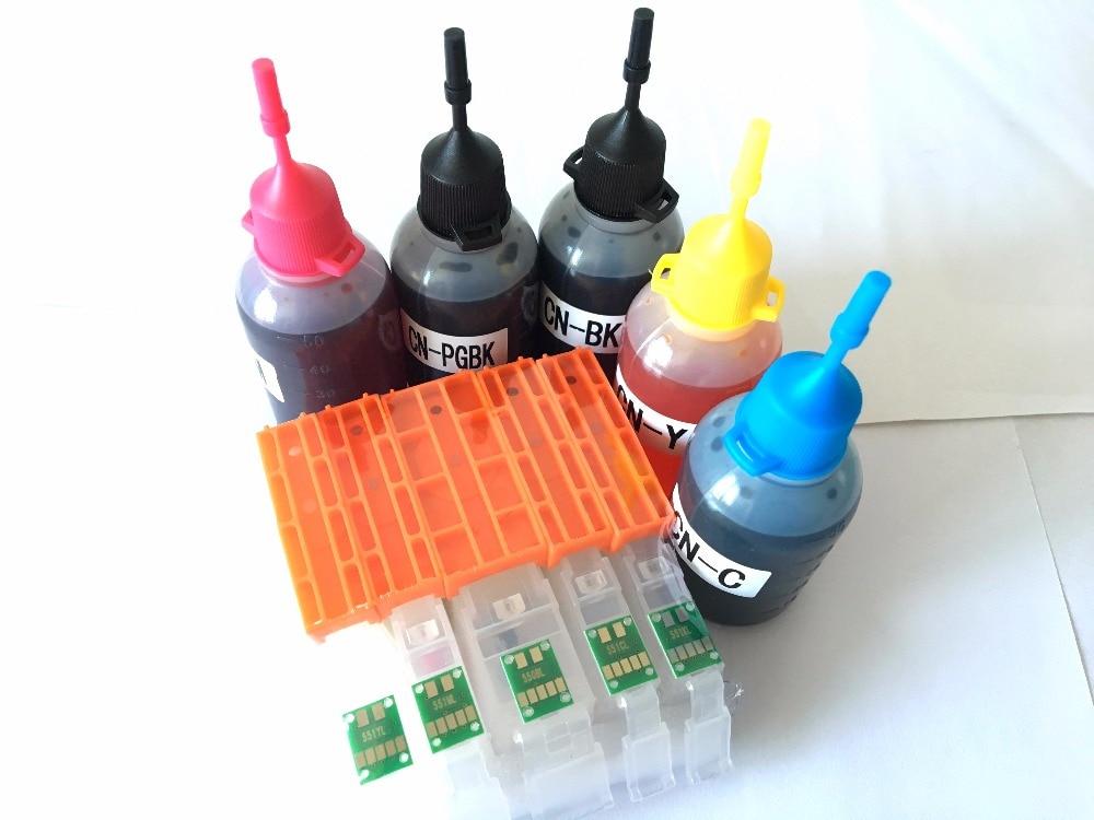 PGI-150 CLI-151 Ink Refill Kit For Canon PIXMA IP7210 MG5410 MX721 MX921 MG5510 IX6810 MG5610 MG6610 with ARC chip PGI150XL