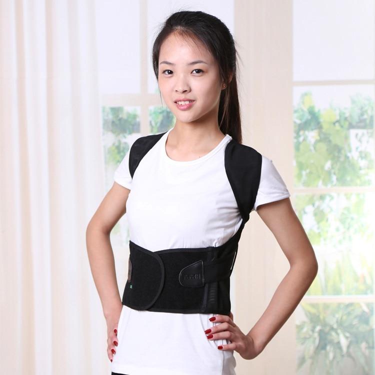 Children Adult Back Belt Adjustable Health Care Posture Corrector Corset  Back Shoulder Lumbar Brace For Man and Women free size o x form legs posture corrector belt braces