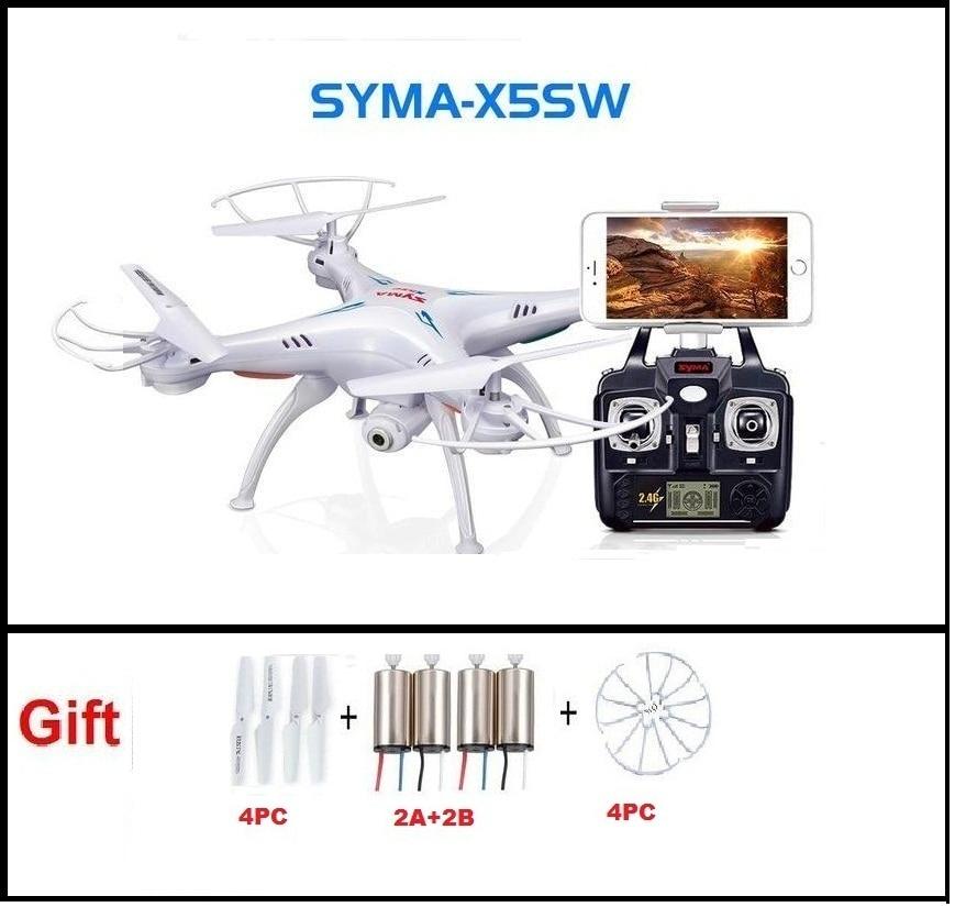 SYMA x5sw FPV-системы RC Quadcopter Дрон с WI-FI Камера HD 2.4 г 6 оси Дрон вертолет Игрушечные лошадки с полный Ёмкость 1 Батарея VS h8c ...