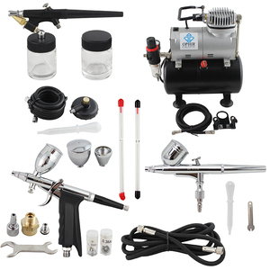 Image 5 - OPHIR Dual Action&Single Action Airbrush Kit with Tank Air Compressor Air Brush Gun for Model Hobby Nail Art_AC090+004A+071+069