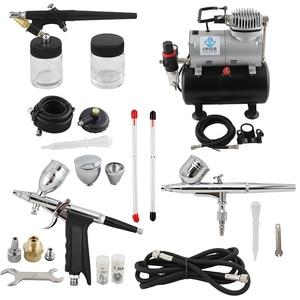 Image 5 - OPHIR Kit daérographe double Action et simple Action, avec réservoir dair compresseur, pistolet à Air pour modèle Hobby Nail Art_AC090 + 004A + 071 + 069