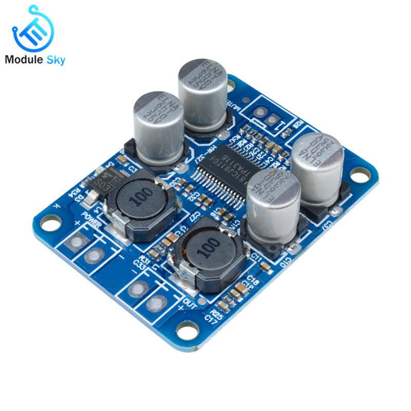 DC8-24V TPA3118 PBTL 60W Mono Digital Audio Amplifier Board AMP Module Chip 1X60W 4-8 Ohms Replace TPA3110 For Arduino