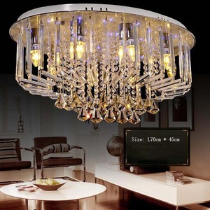 Image 2 - Top selling special price 100% guaranteed large modern brief ceiling crystal chandelier, crystal lighting for living room hall